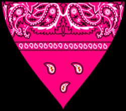 Handkerchief clipart pink