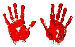 Handprint clipart blood