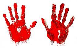 Handprint clipart blood