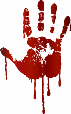 Handprint clipart bloody