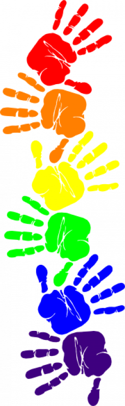 Colouful clipart handprint