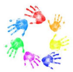 Handprint clipart children's