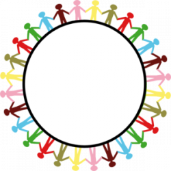 Handprint clipart circle
