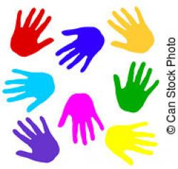 Handprint clipart colored