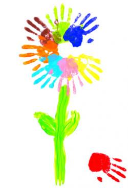 Handprint clipart finger paint