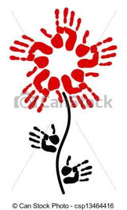 Handprint clipart flower