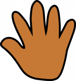 Handprint clipart gold