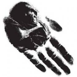 Handprint clipart gorilla