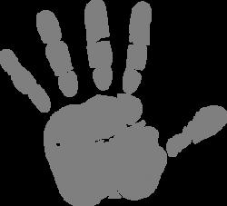 Handprint clipart gray