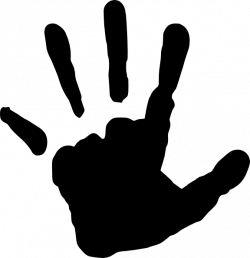 Handprint clipart hand silhouette