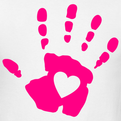 Handprint clipart handprint heart