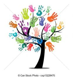Handprint clipart handprint tree