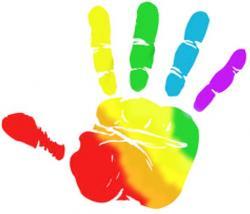 Rainbow clipart hands
