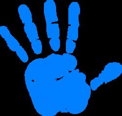 Handprint clipart left