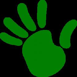 Handprint clipart left hand