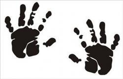Handprint clipart newborn baby