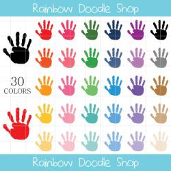 Handprint clipart paint hand