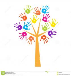 Handprint clipart preschool