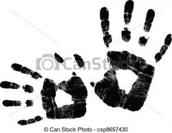 Handprint clipart print