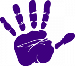 Handprint clipart purple