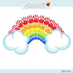 Handprint clipart rainbow