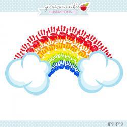Handprint clipart rainbow