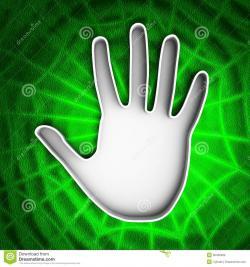 Handprint clipart scanner