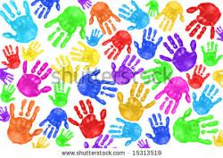 Handprint clipart school age