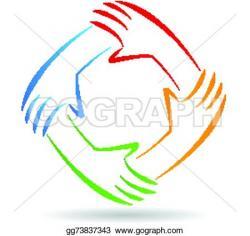 Handprint clipart unity hand logo