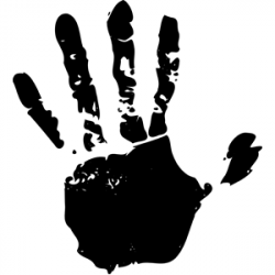Handprint clipart vector