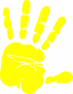 Handprint clipart yellow