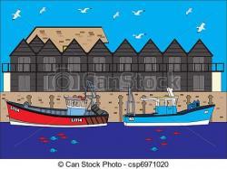 Harbor clipart boat
