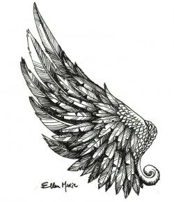 Drawn wings art
