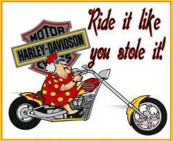 Harley Davidson clipart biker chick