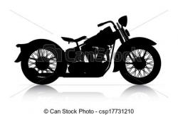 Motorcycle clipart classic motorcycle