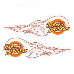 Harley Davidson clipart flame drawing