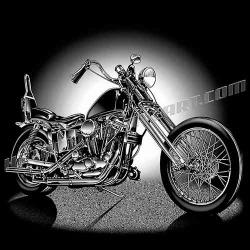 Chopper clipart classic motorcycle