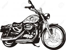 Harley Davidson clipart motorcycle front
