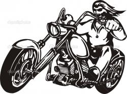 Biker clipart motorcycle chopper
