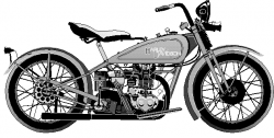 Harley Davidson clipart old motorcycle