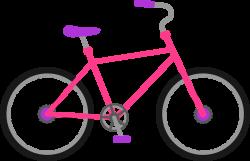 Drawn pushbike cartoon