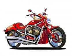 Harley Davidson clipart red motorcycle