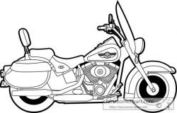 Harley Davidson clipart road king