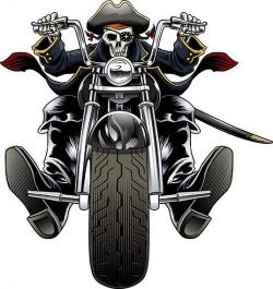 Chopper clipart skeleton