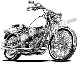 Harley Davidson clipart sportster