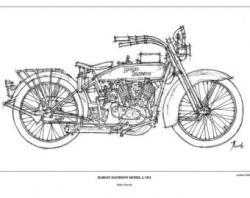 Harley Davidson clipart vintage motorcycle