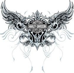 Harley Davidson clipart wing