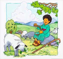 Shepherd Boy clipart king david
