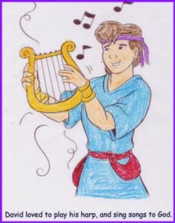 Harp clipart david's