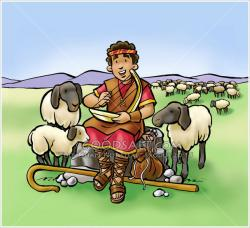 Shepherd Boy clipart sheep clipart